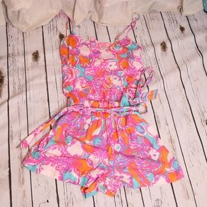 Lilly Pulitzer Coi Fish Romper Sz M